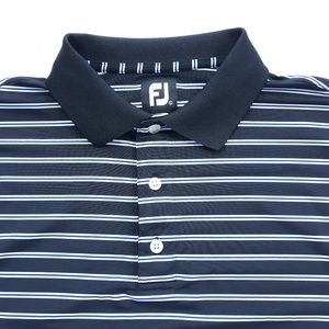Footjoy FJ Mens Striped Golf Polo Shirt L